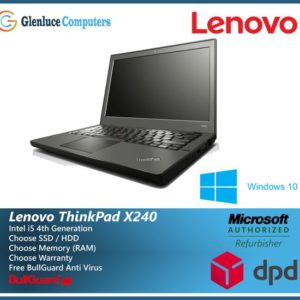 Lenovo ThinkPad Laptop X240 Core i5 4/8GB Ram 1TB or 480GBSSD HDD Windows 10